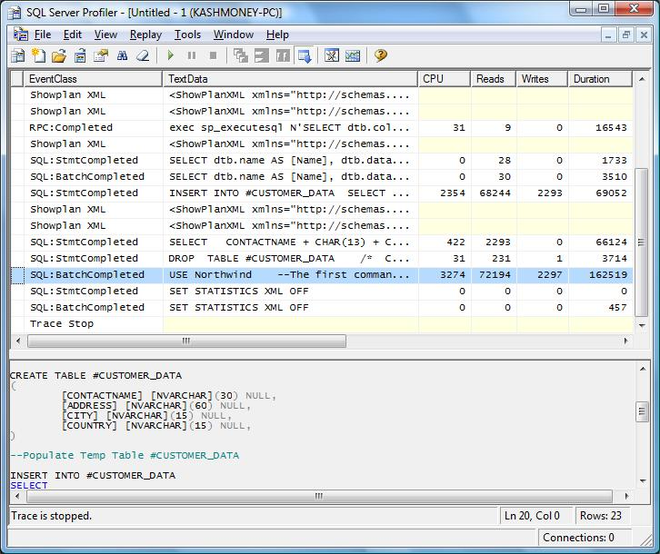 How to create temporary table in sql server 2005 tattoo for Table design sql server